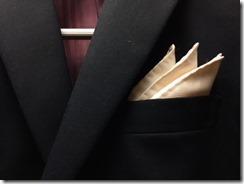 ポケットチーフのおり方  スリーピークスの応用2種類 結婚式などにどうぞ